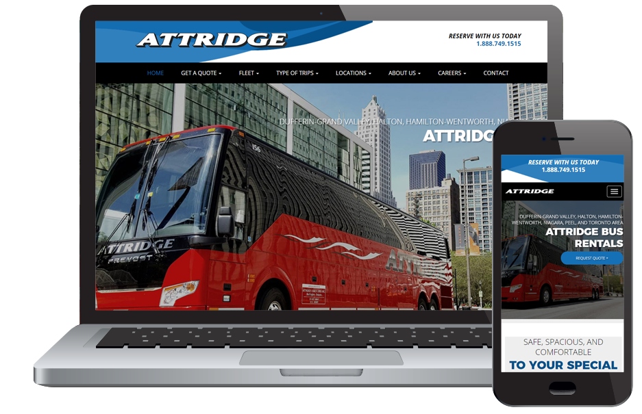 Attridge Transportation Web Design